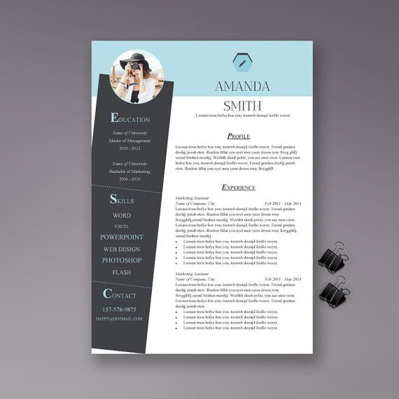 Professional and creative design, easily edit. Resume Template | Cover Letter | Thankyou Letter | Word | 1 page and 2 pages | Instant Download