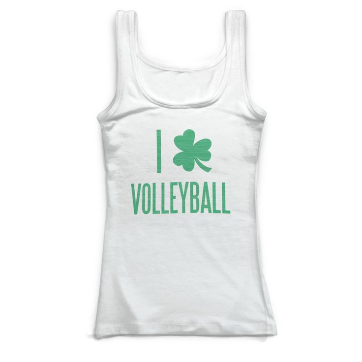 Volleyball Fitted Tank Top I Shamrock Volleyball Women S 2xl Volleyball St Patrick S Apparel Athletic Tank Tops Workout Tank Tops Tank Tops