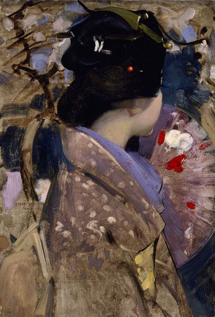 George Henry, Japanese Lady with a Fan, 1890-'99