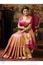 Vivaha Branded Bridal Silk Saree VBBS2002 http://www.shopcost.in/bridal+silk+saree