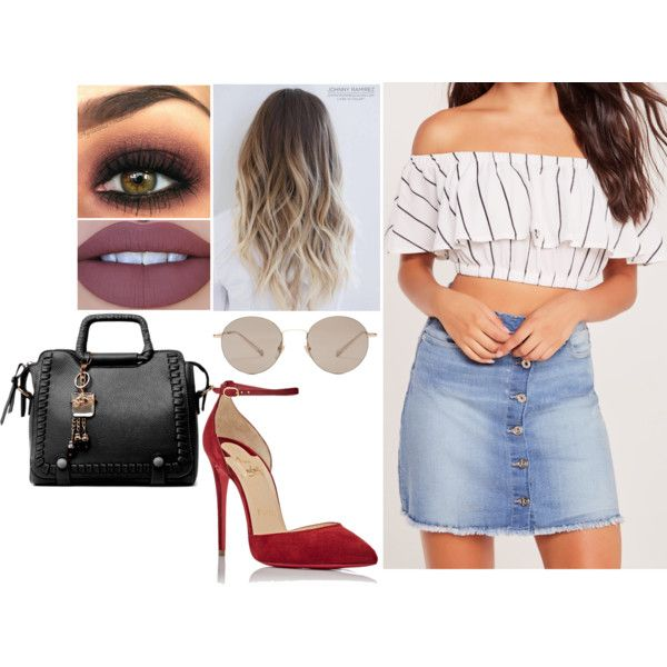 Sans titre #1269 by soso-lili on Polyvore featuring moda, Missguided, Christian Louboutin and Gucci
