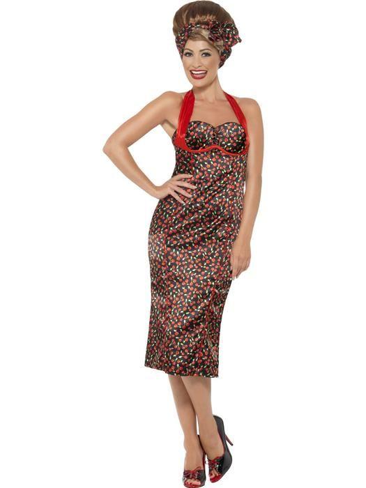 Jaren 50 Rockabilly jurk maat Large - Las Fiestas