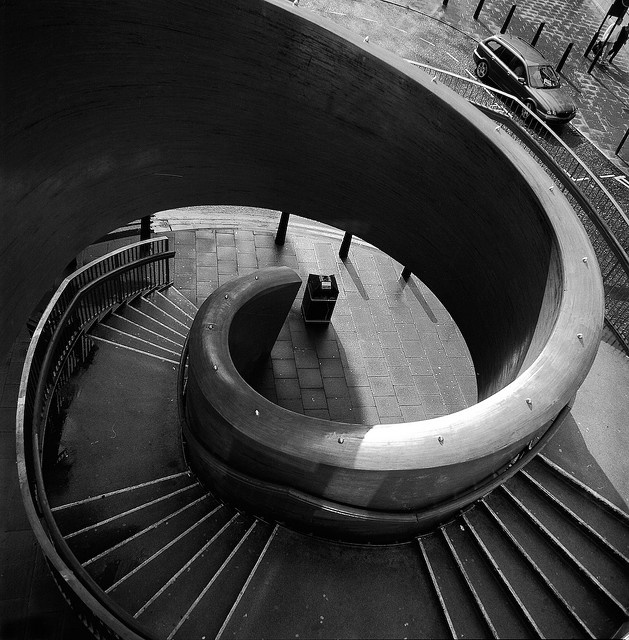 Spiral Staircase, Laing Art Gallery, Newcastle upon Tyne, England