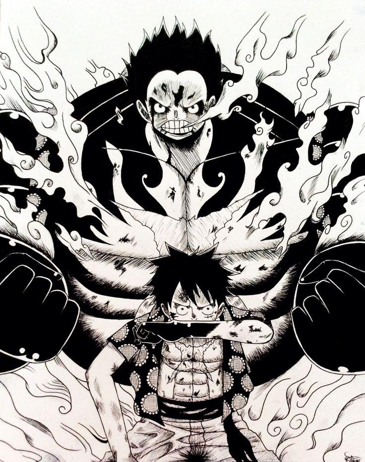Monkey D. Luffy in Gear 4