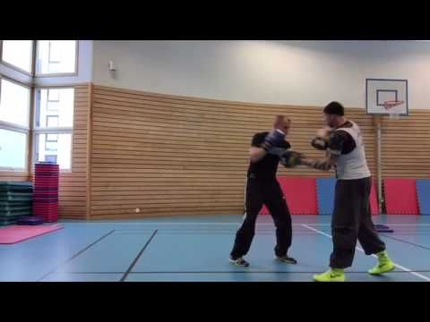 Coach Roger Mittology Training 5April. - Mayweather style -with kickboxe...