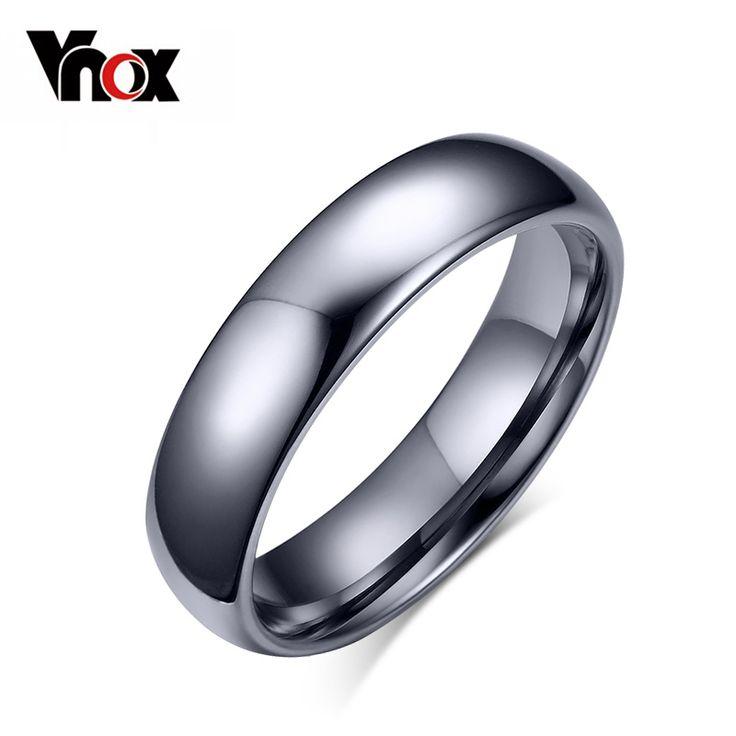 Vnox promoción ventas pure tungsten anillo de metal para hombres de las mujeres de calidad superior de la joyería de la boda