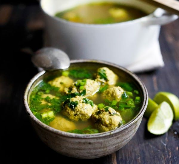 Feasting at Home: Kofta Soup with Spinach