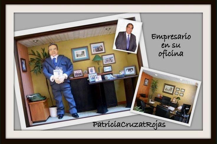 Patricia Cruzat Artesania y Color: Cuadro con Figura Personalizada y Miniaturas, un Ragalo Divertido y unico.