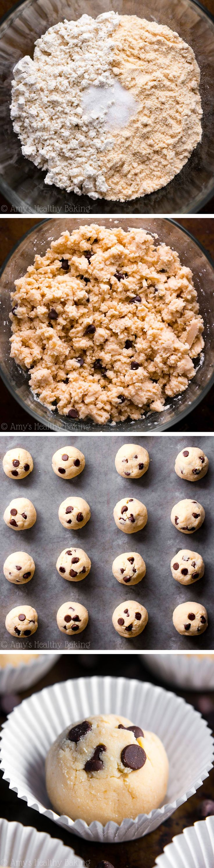 This healthy snack tastes JUST like cookie dough snuck straight from the bowl! Completely guilt-free with only 77 calories & 6g of protein!