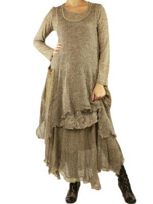 Taupe Dress Marilu - Cervaro dress set & Livenza skirt