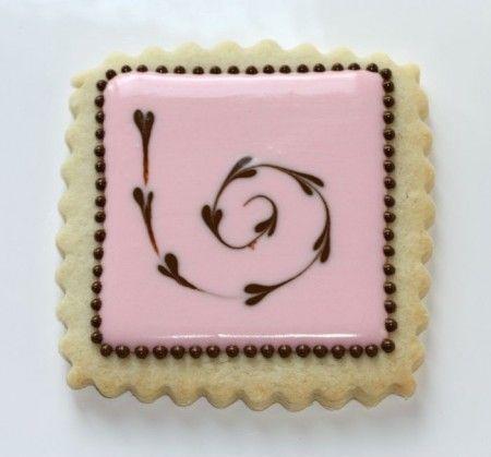 Cookie redemoinho Corações Rosa & Marrom