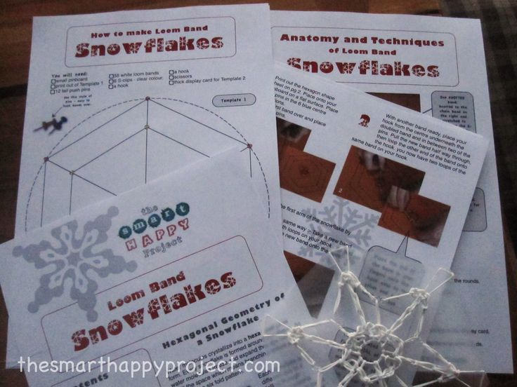 image of how to make snowflakes from Loom bands download