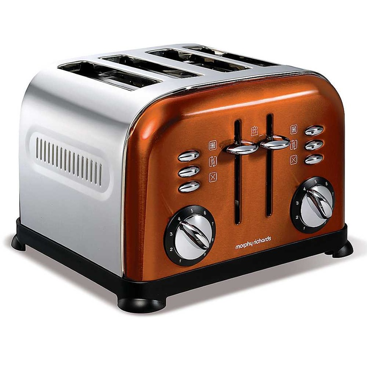 Morphy Richards Copper Accents Toaster  -  kaleidoscope.co.uk