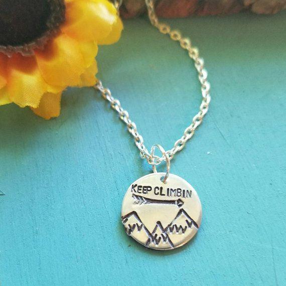 Keep Climbin' Mountain Necklace Mountain Landscape by megal0d0nn