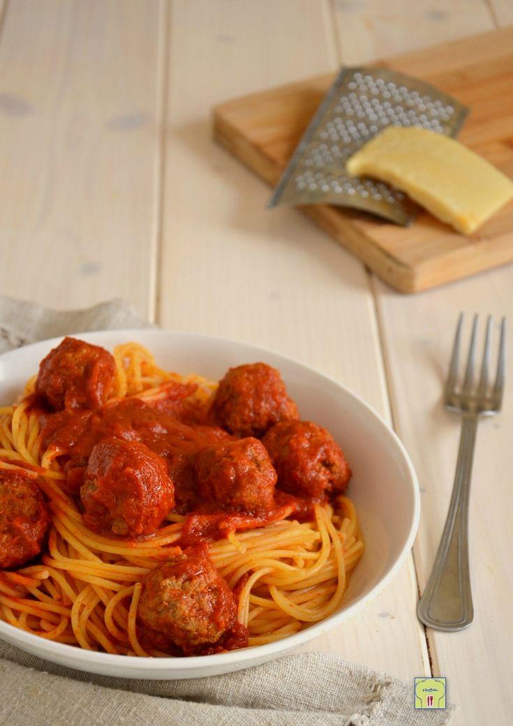 spaghetti con le polpette  spaghetti with meatballs