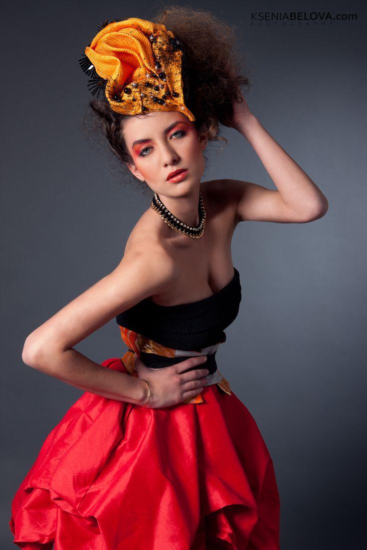 Published in RED magazine Model: Maria Ronzhina Make up artist: Simone Clarke Hair Stylist: Hiroko Okada Photograher: Ksenia Belova Direction: Anastacia Vorobyeva Garments: Dizingof Headpieces: Natalilouise Millinery