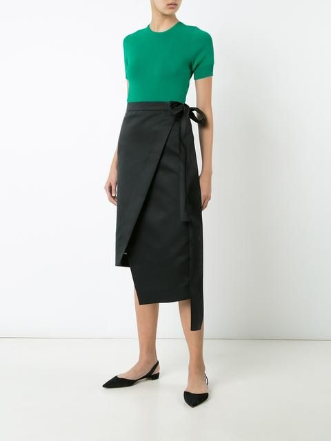 Rochas асимметричная юбка с запахом