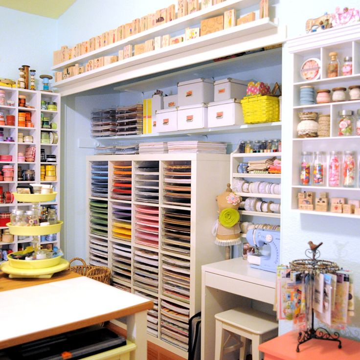50 best images about craft areas on pinterest drawings crafts and coloring books - Craft area for small spaces property ...