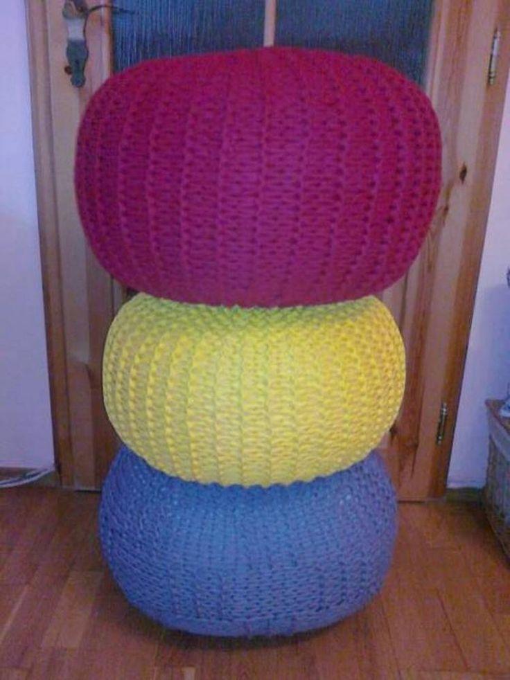 Úžitkový textil - Bordový puf pre Bašku - 2790818