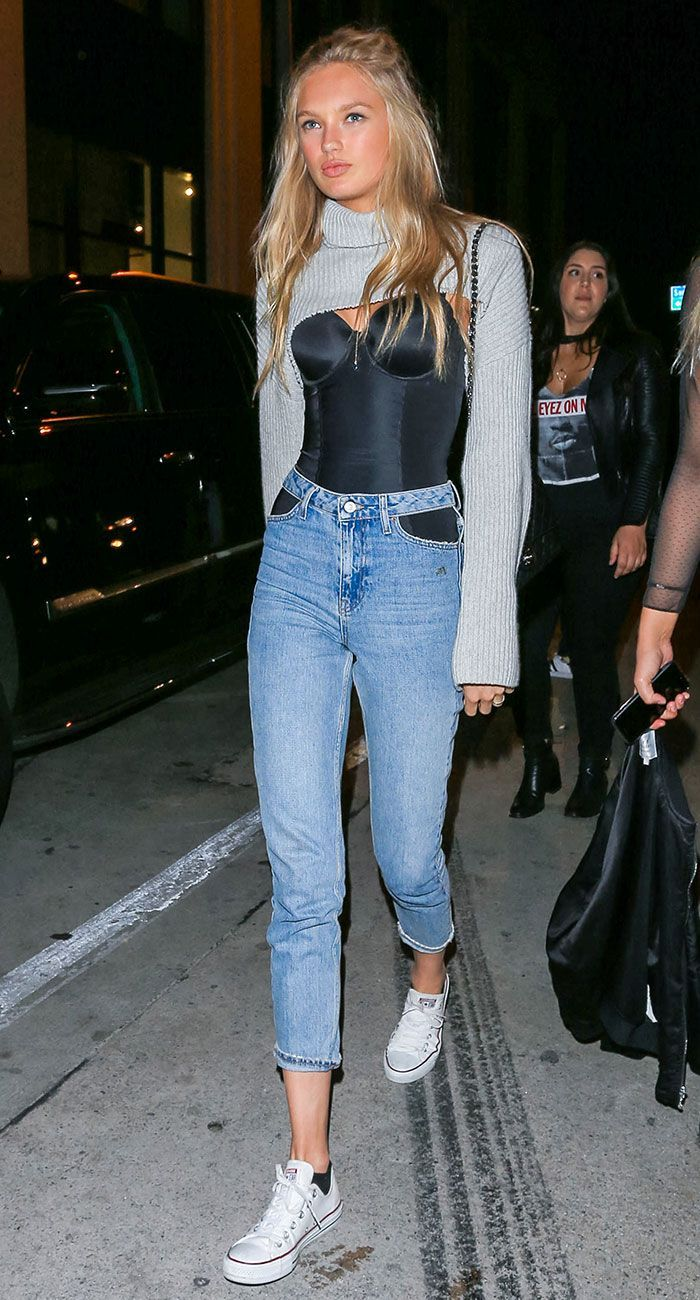 96390cd91300 Victoria s Secret model Romee Strijd shares the best shoe style to wear with  skinny jeans. See if you own the style inside.