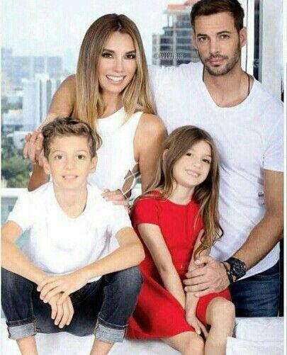 William Levy, Elizabeth Gutierrez and their family