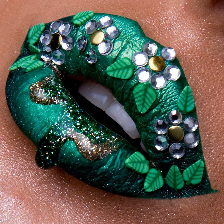# Lip art Spring Forest Instagram: vladamua                                                                                                                                                     More