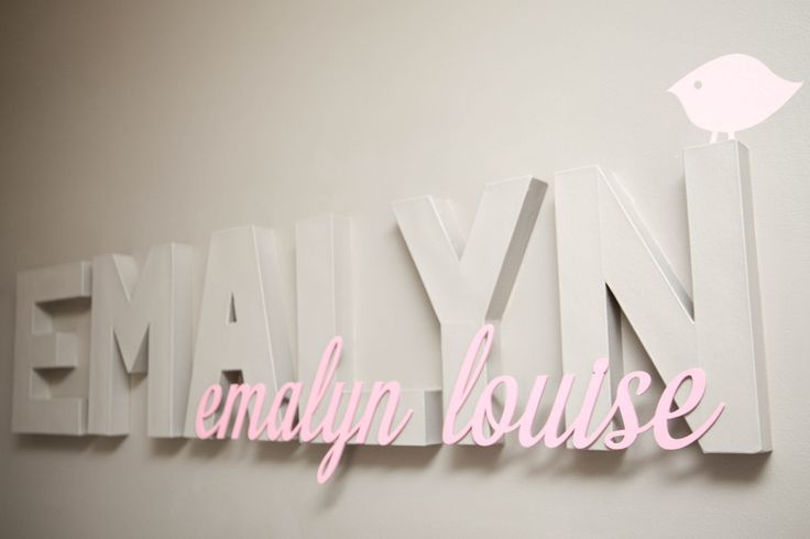 Baby name wall decor nursery children 39 s wall decor for Baby name letters decoration