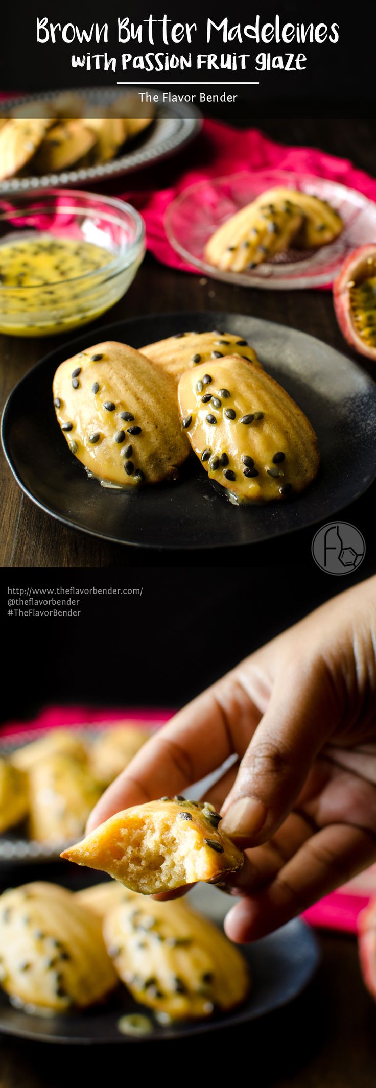 Brown Butter Madeleines with Passion fruit Glaze - Get your holiday baking off…