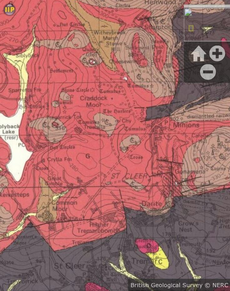 Victorian geological map of Liskeard versus the