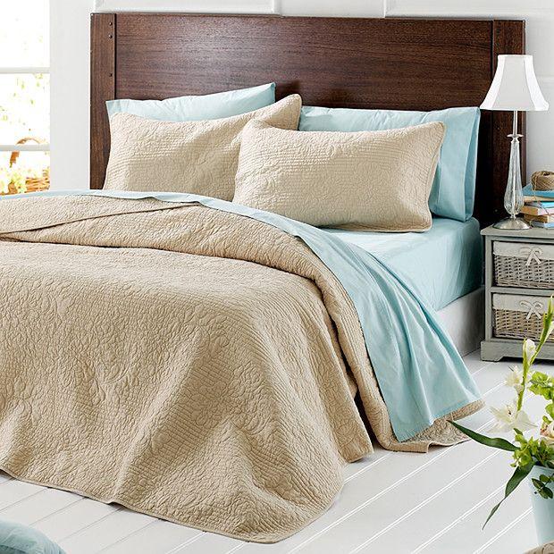 Vienna Quilted Cotton Blanket Set   Queen Bed