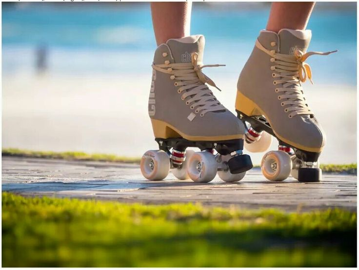 Rollerskating~ (the skate with 4 wheels in a line is called rollerblades)