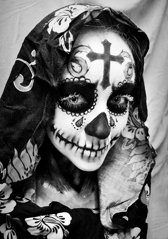 Cute..teardrop! Would keep it to 1 tho. Day of the Dead Makeup
