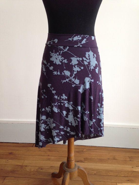 Tango summer skirt blue flowers by BellaTango on Etsy