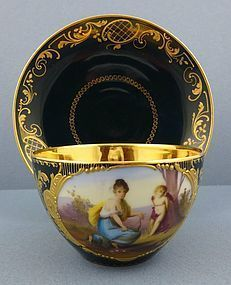 Exceptional Royal Vienna Scenic Coffee Cup & Saucer