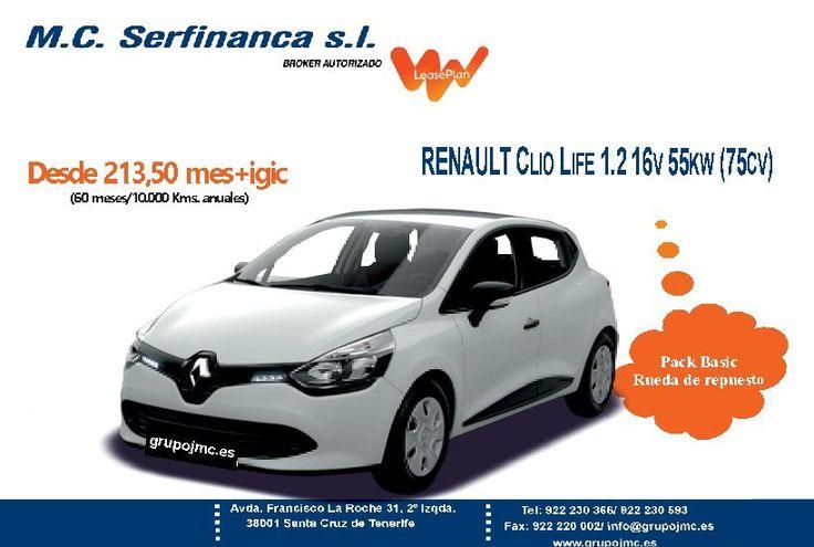 Oferta renting de vehículo en Canarias.- Renault Clio