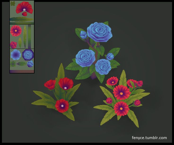 3d Prop - Flowers, Bianca Tholen on ArtStation at https://www.artstation.com/artwork/3d-prop-flowers