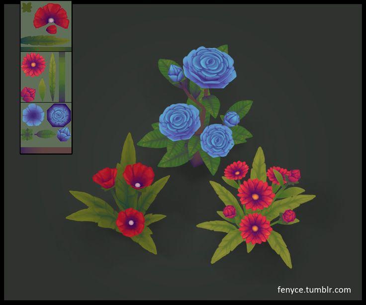 3d Prop - Flowers, Bianca Tholen on ArtStation at https://www.artstation.com/artwork/3d-prop-flowers
