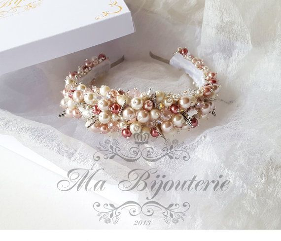 Luxury Wedding Tiara Pearl Tiara Bridal Tiara by MaBijouterie