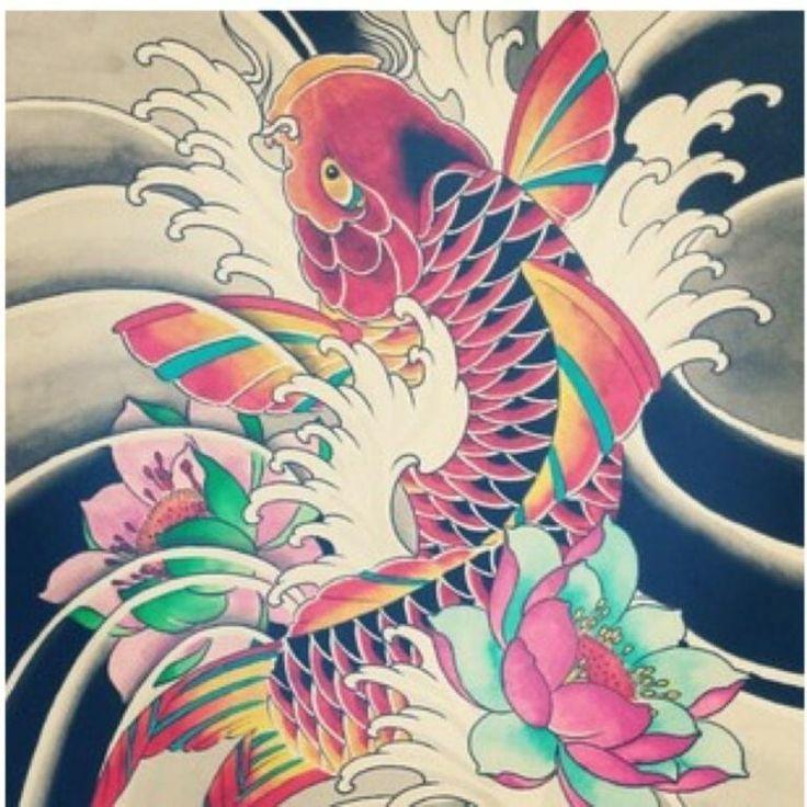 M s de 25 ideas en tendencia sobre tatuaje pez koi en for Koi japones