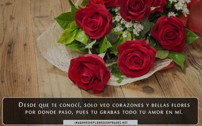 imagenes de rosas rojas con poemas de amor