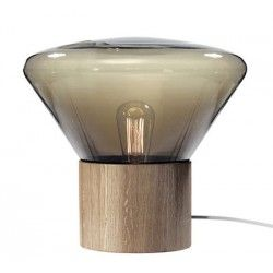 Lampe de table Muffins Mini Wood 02  / H 50,6 cm - Brokis