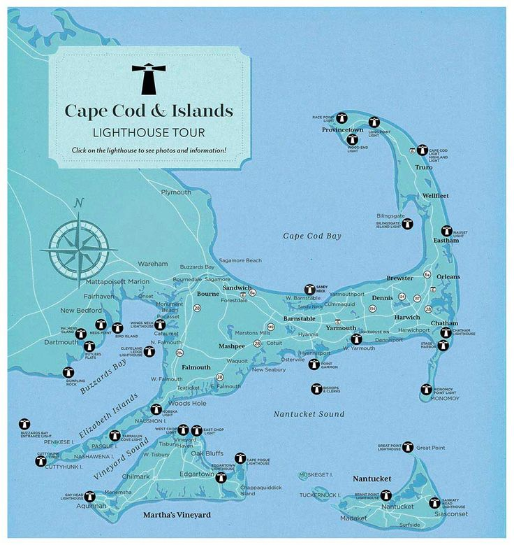 Lighthouse Map Tour - Cape Cod LIFE Publications