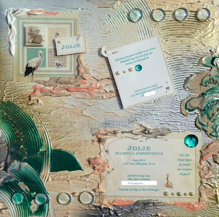 Kraamkado, kado, cadeau, geboortekaartje op doek, canvas, baby www.facebook.com/kraamkado.opdoek