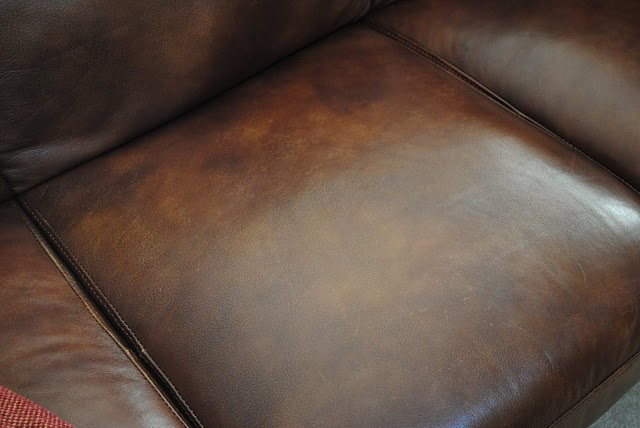 How to fix a scratched up leather sofa!!