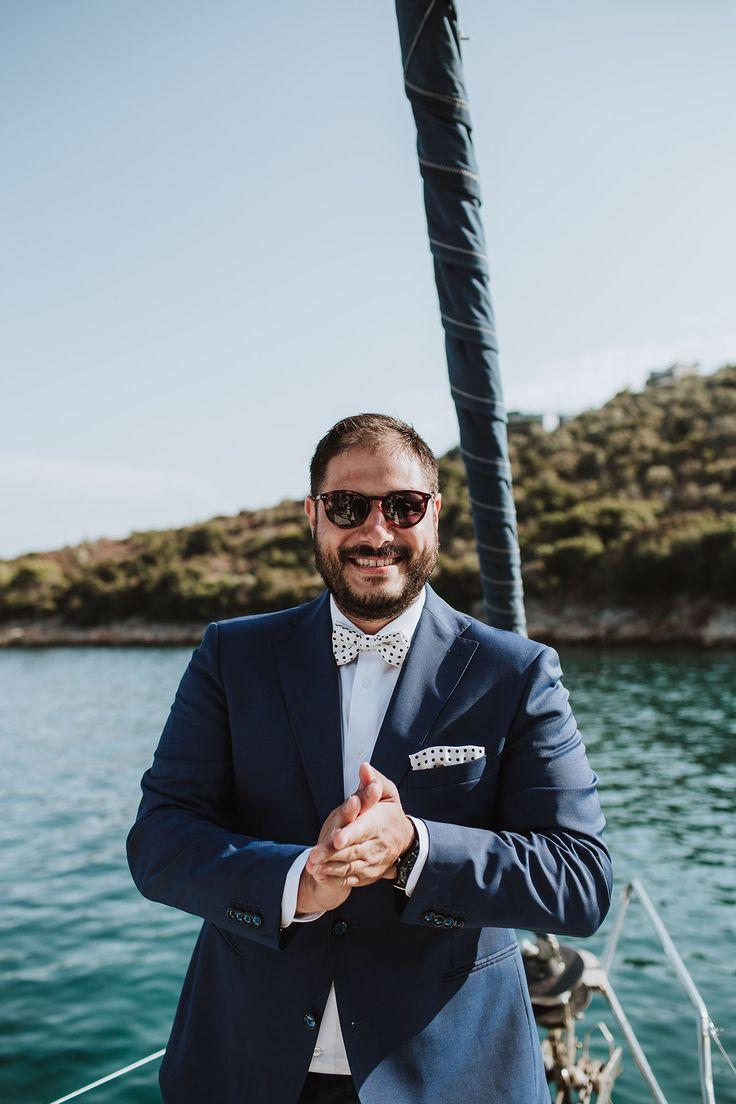 The Groom | DIY Destination Wedding in Alonnisos Island, Greece
