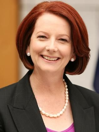 Julia Gillard, because she calls people on sexism, refused to wear a skirt even for the queen, she bowed, I love her