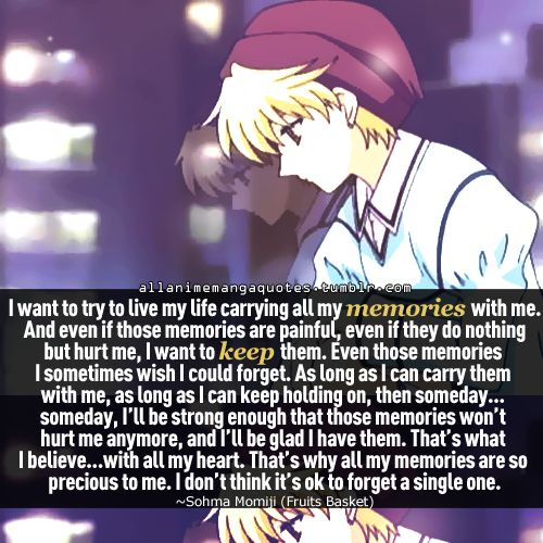 fruits basket - momiji is awesome and memories won't always be so painful.