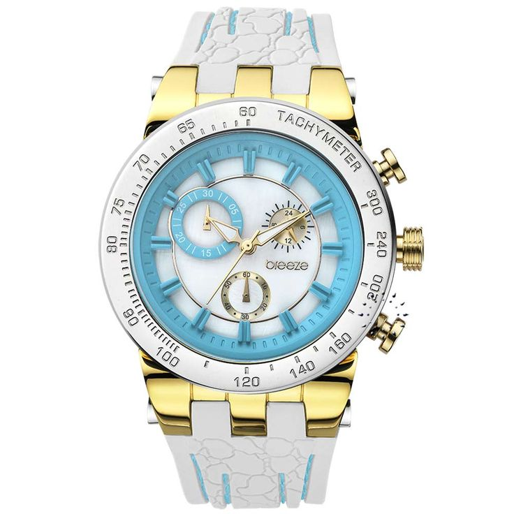 BREEZE Desire Chrono White Rubber Strap Τιμή Προσφοράς: 162€ http://www.oroloi.gr/product_info.php?products_id=30561