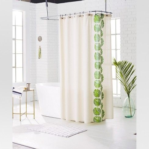 Leaf Shower Curtain Green Grapes Threshold Fabric Shower
