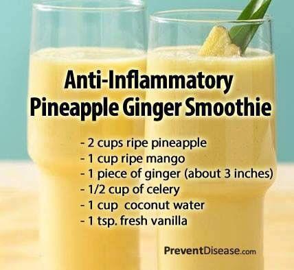 Anti-flammatory Ginger smoothie